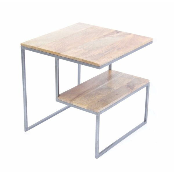 Leyden Contemporary 2 Tier End Table by Union Rustic