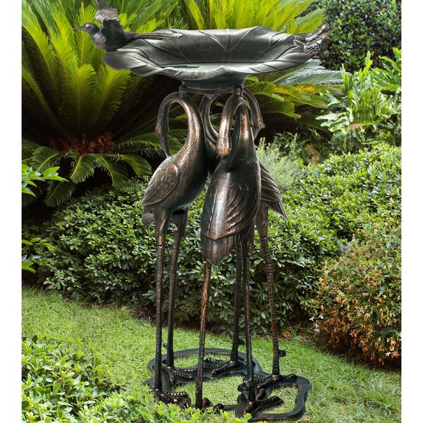 Pembroke Crane Birdbath by Sunjoy