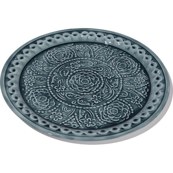 Embossed Rose Floral Decorative Plate Platter by Northlight Seasonal