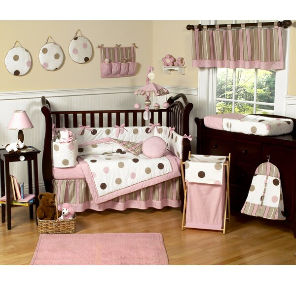 Mod Dots 9 Piece Crib Bedding Set by Sweet Jojo Designs