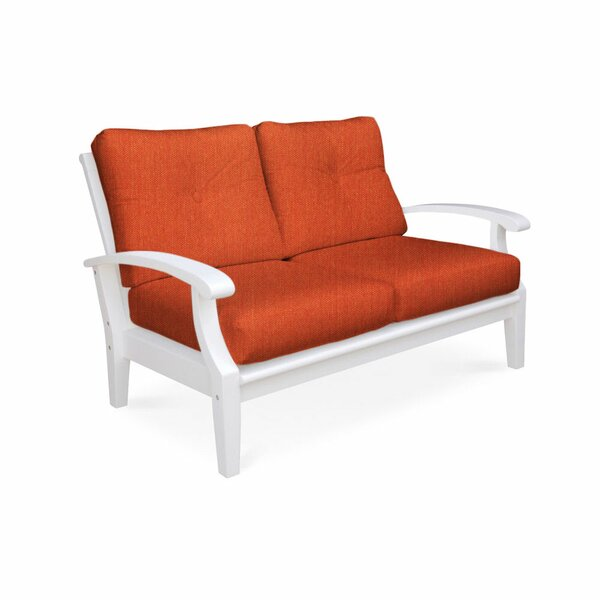 Lowery Deep Seating Loveseat with Sunbrella Cushions by Rosecliff Heights