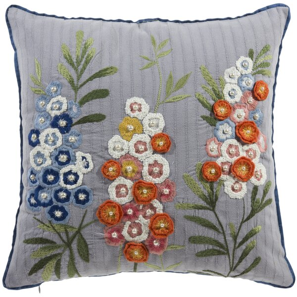 Buser Flower Throw Pillow by August Grove