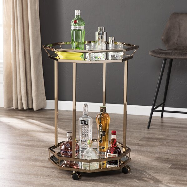 Howe Octagonal Bar Cart By Mercer41 New