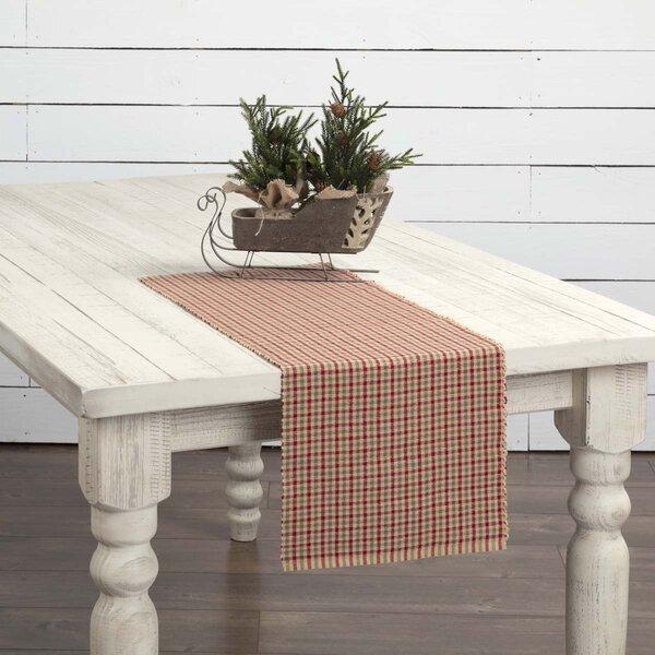 Fossett Plaid Ribbed Table Runner by Winston Porter