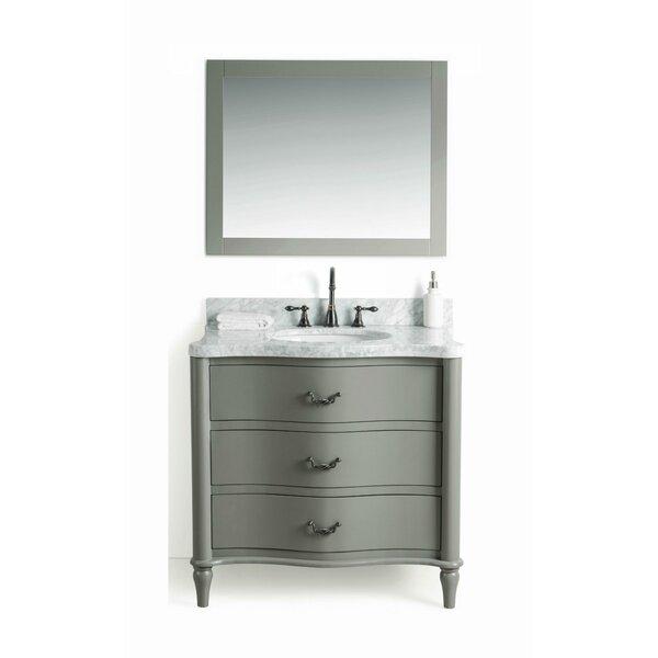 Filomena Solid Wood 37 Single Bathroom Vanity Set with Mirror by August Grove