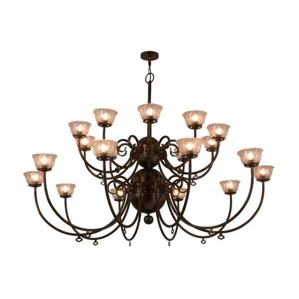 Teignmouth 20 - Light Shaded Classic / Traditional Chandelier By Astoria Grand