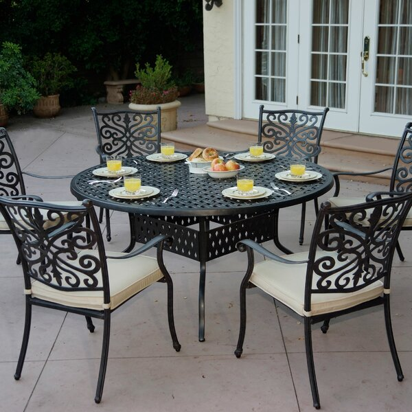 Archway 7 Piece Metal Dining Set with Cushions by Astoria Grand Astoria Grand