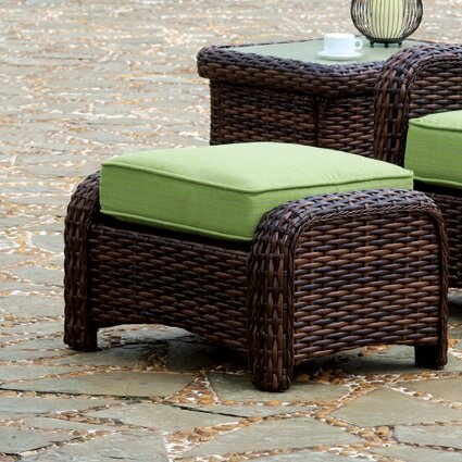 Chorio Ottoman with Cushion by Bay Isle Home
