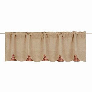 Addie Burlap Scalloped Curtain Valance