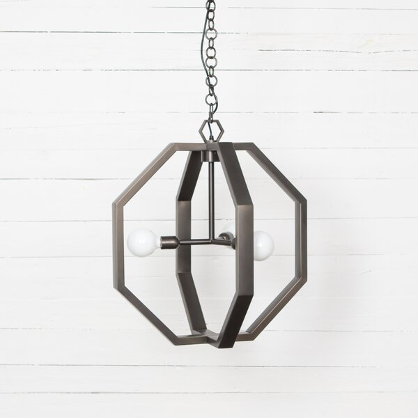Senecal 3 - Light Unique / Statement Geometric Chandelier By Brayden Studio