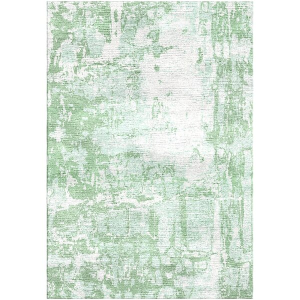 Ashford Handloom Green Area Rug by Ivy Bronx