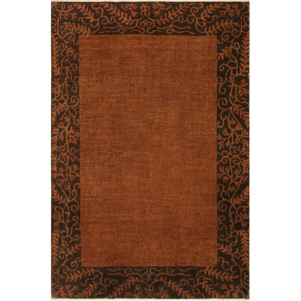 One-of-a-Kind Fargo Overdyed Color Reform Hand-Knotted Wool Brown Area Rug by Isabelline