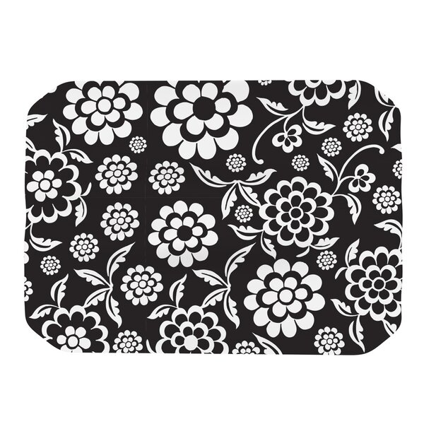 Cherry Floral Placemat by KESS InHouse