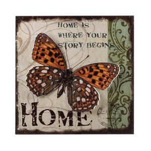 Butterfly Home Graphic Art by Zingz & Thingz