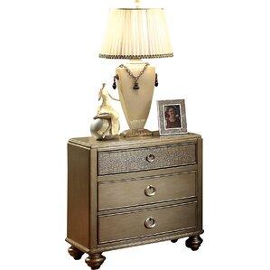 claudio 3 drawer nightstand