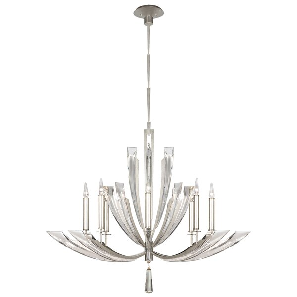 Vol De Cristal 8 - Light Candle Style Classic / Traditional Chandelier By Fine Art Lamps