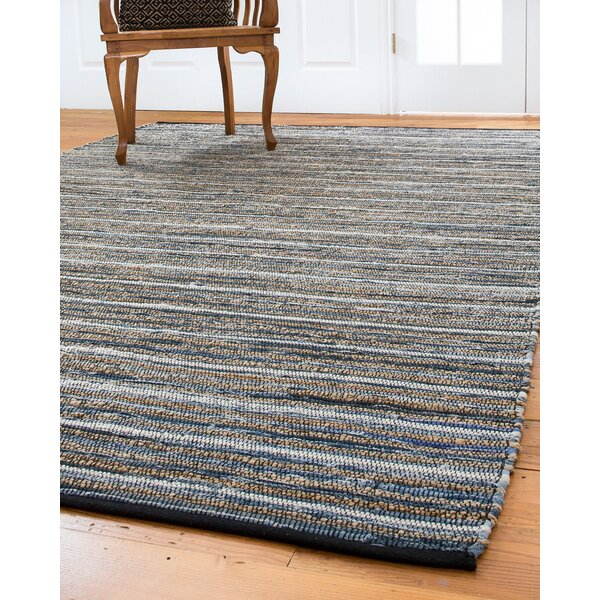 Navarre Hand-Loomed Blue/Brown Area Rug by Natural Area Rugs