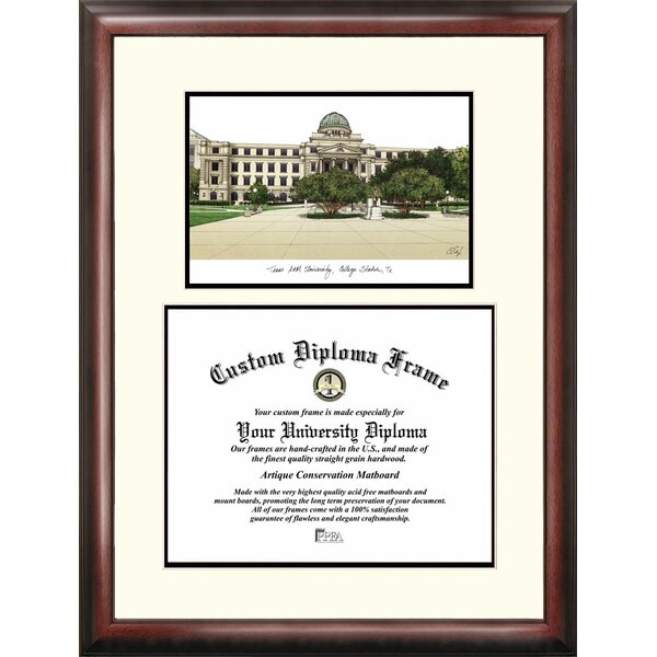 NCAA Texas A&M University Scholar Diploma Framed Graphic Art by Campus Images