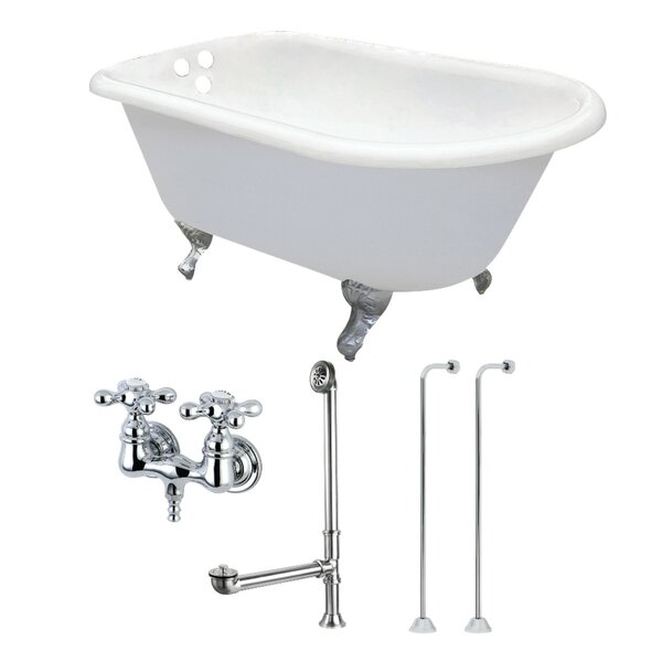 54 x 13 Clawfoot Soaking Bathtub by Kingston Brass