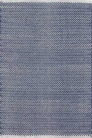 Herringbone Hand Woven Indigo Area Rug by Dash and Albert Rugs