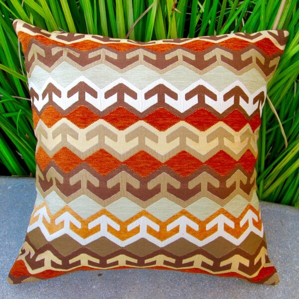 Geometric Arrow in Southwestern Country Cabin Indoor Pillow Cover by Artisan Pillows