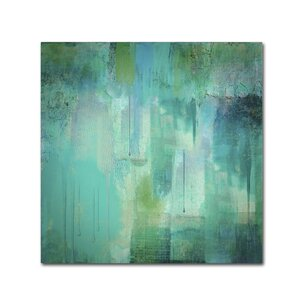 Aqua Circumstance by Color Bakery Painting Print on Wrapped Canvas by Trademark Fine Art