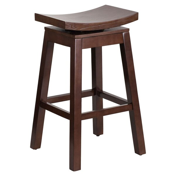 Faxan High Saddle 30 Swivel Bar Stool by Darby Home Co
