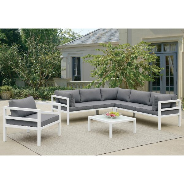 Ostler 5 Piece Sectional Set with Cushions by Brayden Studio