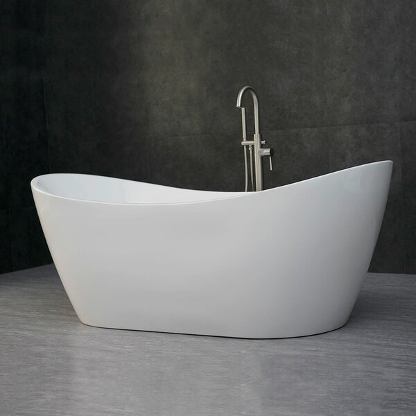 Higgenbotham 71 x 35 Freestanding Soaking Bathtub by Orren Ellis