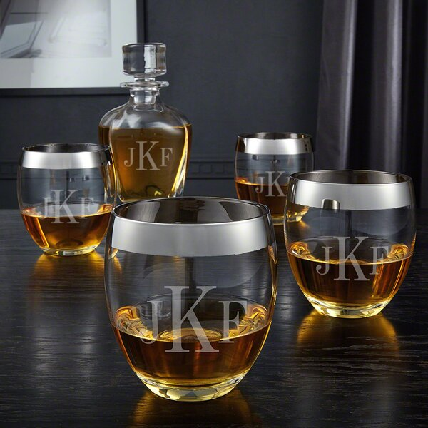 Classic Monogram 5 Piece Beverage Serving Set by Home Wet Bar