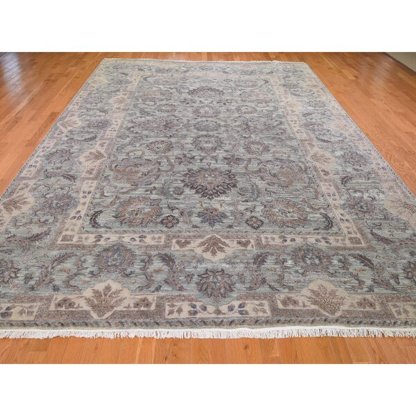 One-of-a-Kind Nadiyah Hand-Knotted Brown 10' x 14' Area Rug