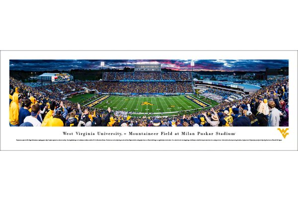 NCAA West Virginia Football 50 Yard Line Photographic Print by Blakeway Worldwide Panoramas, Inc