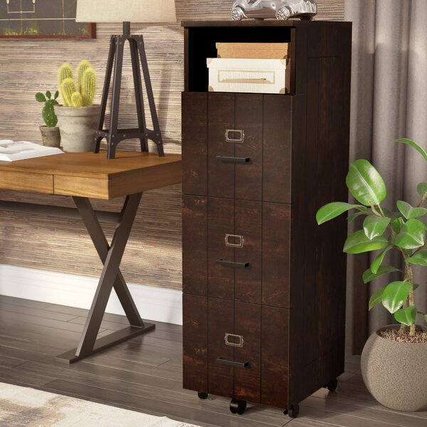 Kaj Industrial 3 Drawer Vertical Filing Cabinet by 17 Stories