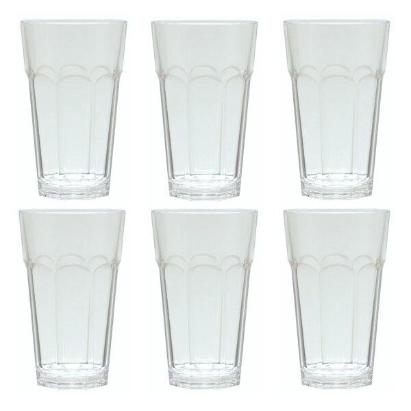Mcanulty 18 oz. Acrylic Every Day Glasses (Set of 6) by Ebern Designs