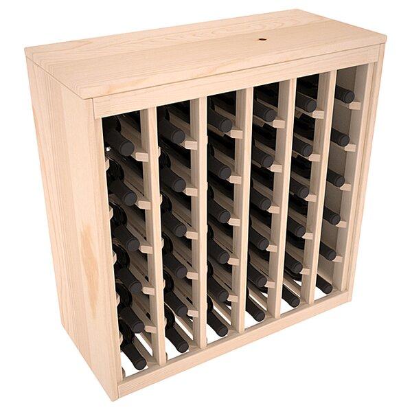 Karnes Deluxe 36 Bottle Floor Wine Bottle Rack by Red Barrel Studio Red Barrel Studio