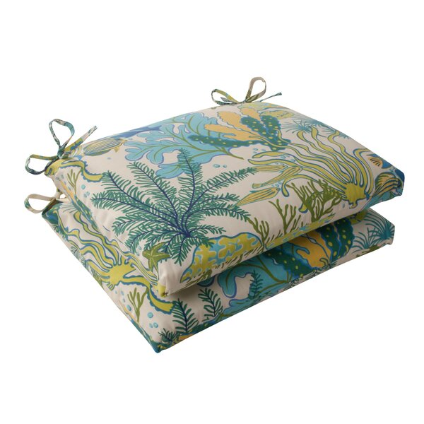 Splish Splash Indoor/Outdoor Seat Cushion (Set of 2) by Pillow Perfect