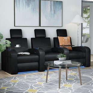 Awesome Power Recline Leather Home Theater Sofa Row Of 3 Bralicious Painted Fabric Chair Ideas Braliciousco