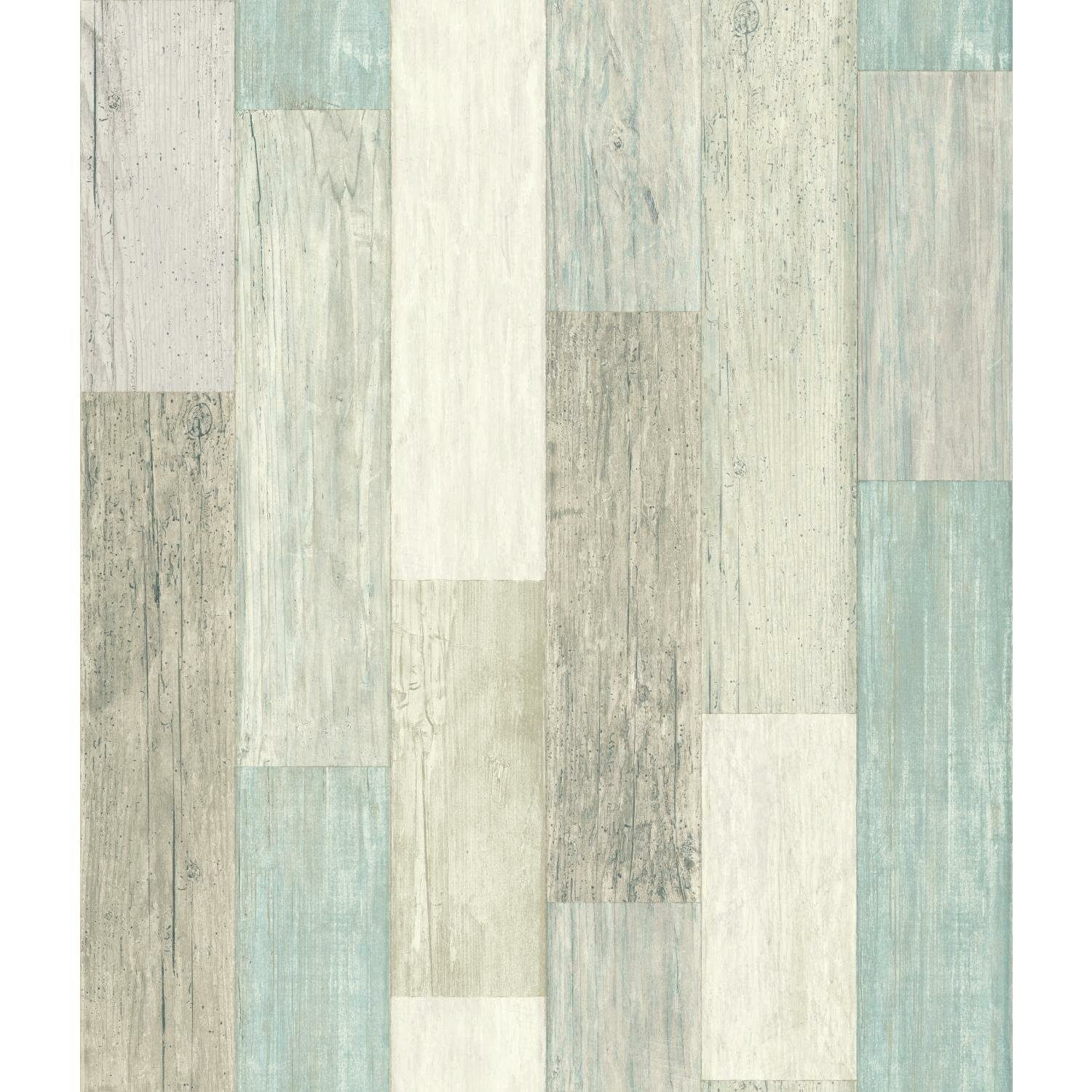Chronister Coastal Weathered Plank 16 5 L X 20 W Wood And Shiplap Stick Wallpaper Roll Reviews Birch Lane