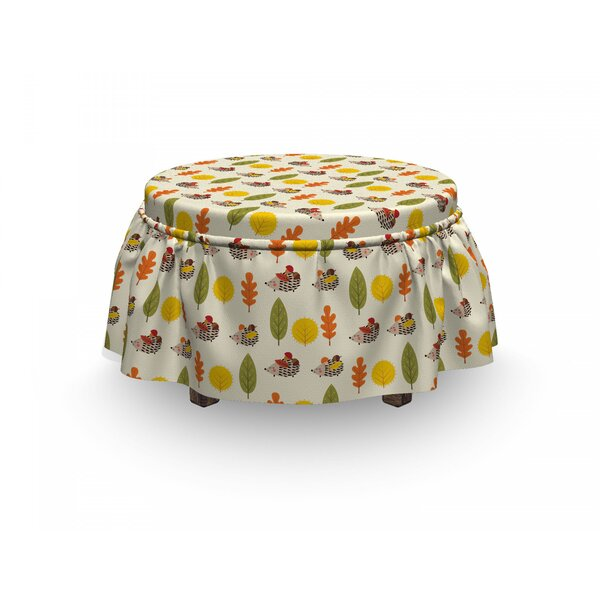 Hedgehog Different Trees Animals 2 Piece Box Cushion Ottoman Slipcover Set By East Urban Home