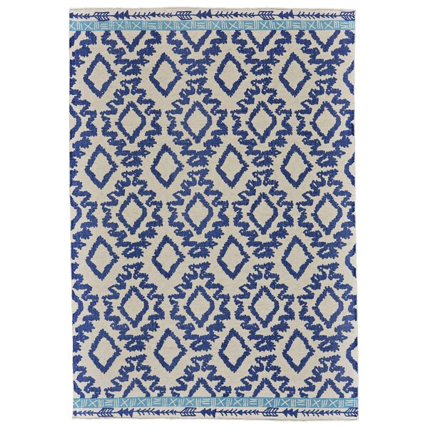 Kopstal Hand Woven Blue Area Rug by Bungalow Rose