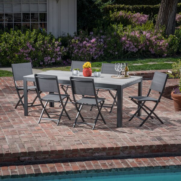 Crum 7 Piece Outdoor Patio Dining Set by Williston Forge