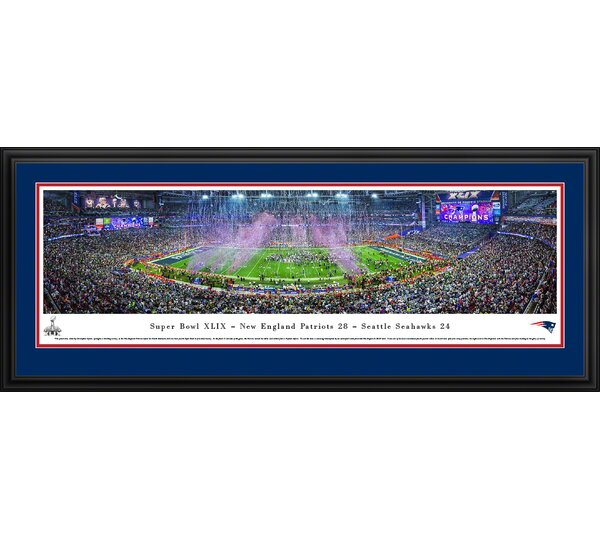 NFL Super Bowl 2015 by Christopher Gjevre Framed Photographic Print by Blakeway Worldwide Panoramas, Inc
