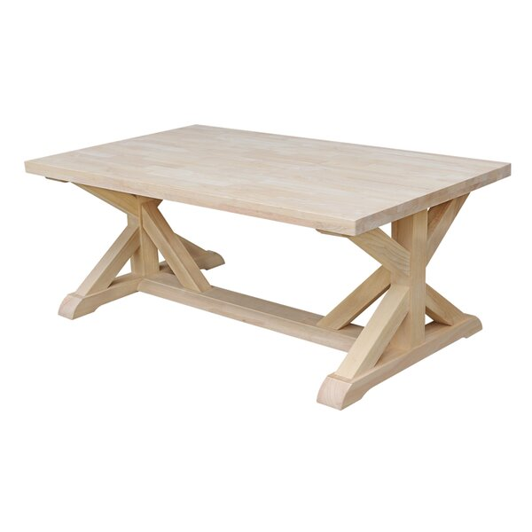 Philippine Solid Wood Trestle Coffee Table By August Grove