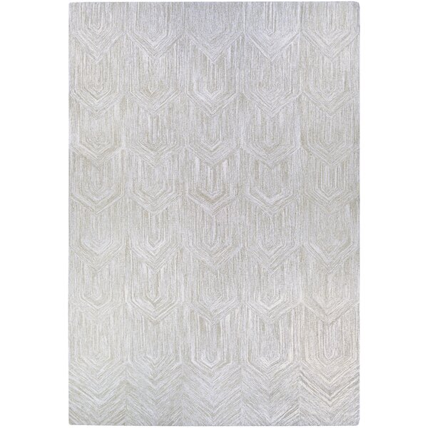 Crabill Hand-Woven Gray Area Rug by Wrought Studio