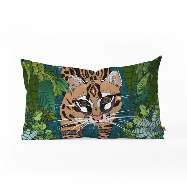 Sharon Turner Ocelot Jungle Oblong Lumbar Pillow by East Urban Home