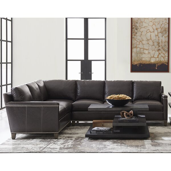 Carrera Left Hand Facing Leather Sectional