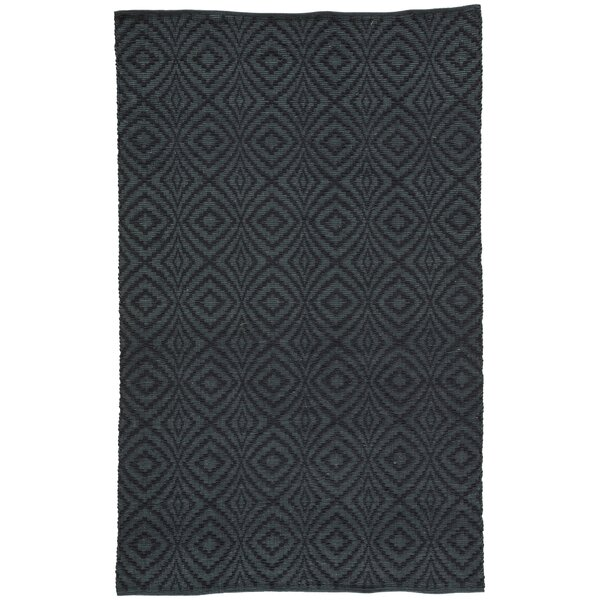 Hand-Loomed Dark Blue Indoor/Outdoor Area Rug by Williston Forge