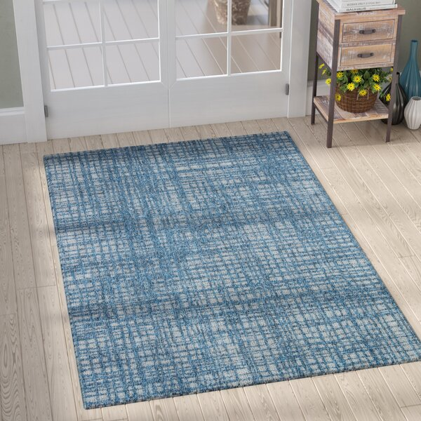 Milivoje Blue Abstract Area Rug by Gracie Oaks