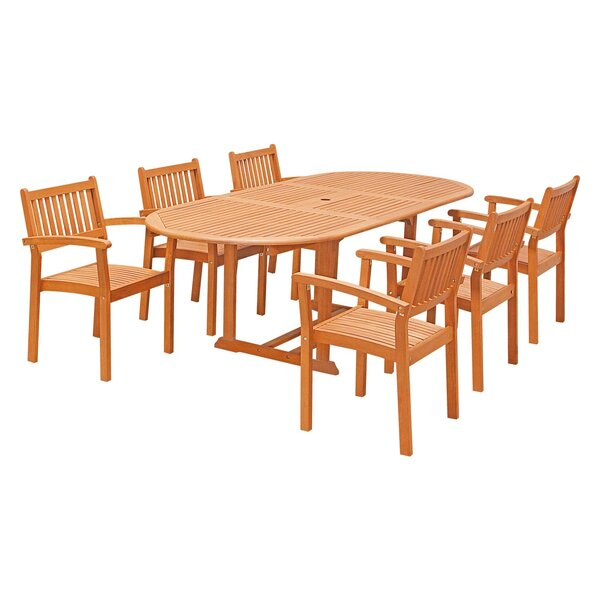 Edgewood 7 Piece Dining Set by Rosecliff Heights