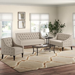 Hunley 3 Piece Living Room Set by Alcott Hill®